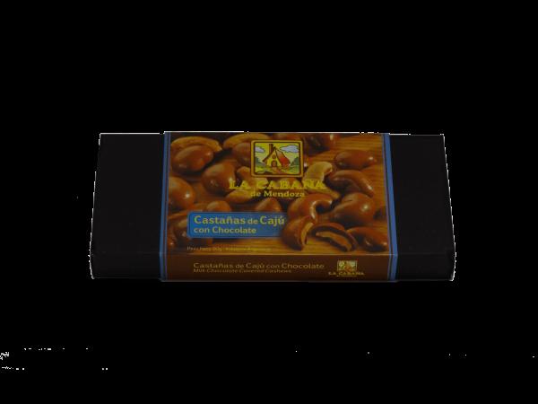 Castañas de cajú con chocolate