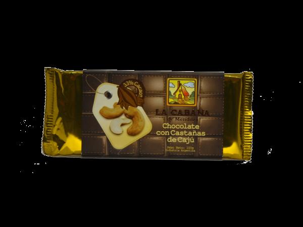 Tableta chocolate con castañas de cajú