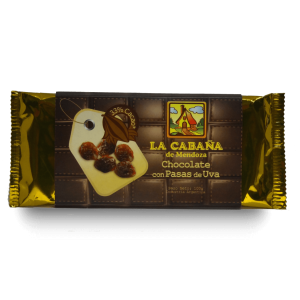 Tableta chocolate con pasas de uva